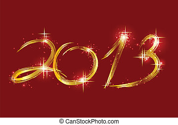 Christmas red background with glow 2013. Vector