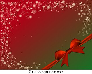 Christmas red background with red bow