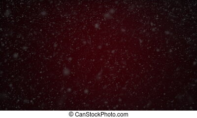 Christmas red background with snow