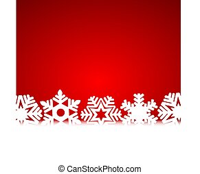 Christmas red background with snowflakes and light
