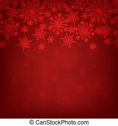 red background with snowflakes