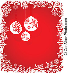 Christmas red background with snowflakes pattern