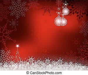 Christmas red background with white balls