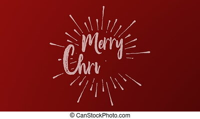 Christmas red background writing text animation