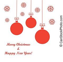 Christmas red balls ornaments