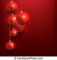 Christmas Red Blurred Balls