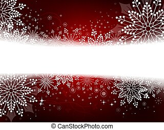 Christmas red, burgundy design with a variety of white elegant snowflakes,