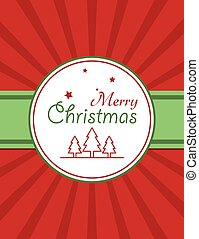 Christmas red card design