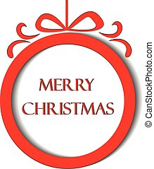 Christmas red card - Merry Christmas red greetings card...