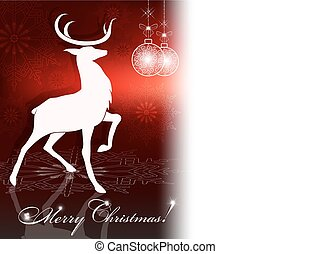Christmas red design with a deer