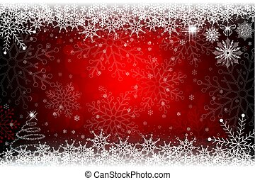 Christmas red design with a small Christmas tree