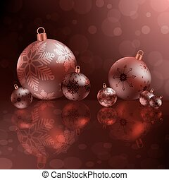 christmas red design with balls