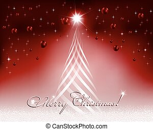Christmas red design with Christmas tree