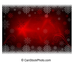 Christmas red design with patterns and snowflakes