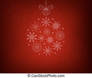 Christmas red design with snowflakes