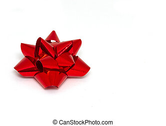 Christmas red foil bow