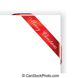 Christmas Red Glossy Tag