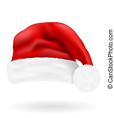 christmas red hat santa claus vector illustration