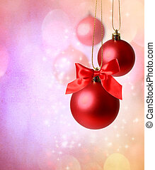 Christmas red ornaments