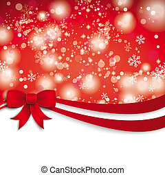 Christmas Red Ribbon Flyer