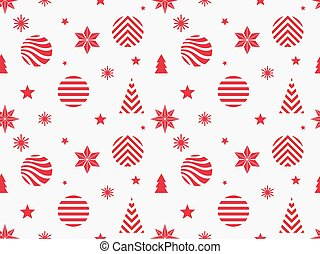Christmas red seamless pattern.