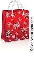 Christmas Red Shopping Bag