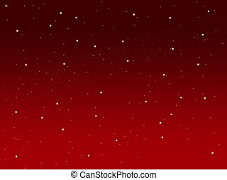 Christmas red sky background little stars - Christmas red...