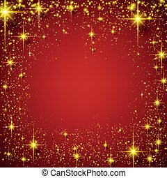 Christmas red starry background.