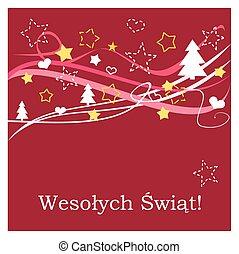Christmas red vector polish card