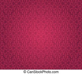 red vintage wallpaper background