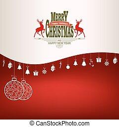 Christmas red, white design