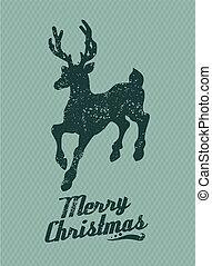 Christmas reindeer background
