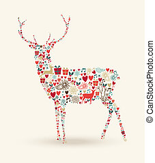 Christmas reindeer composition
