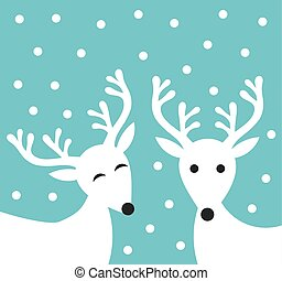 Christmas reindeer couple