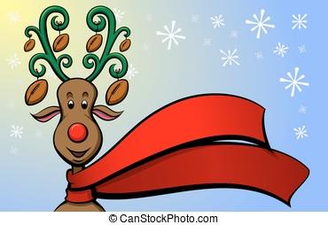 Christmas Reindeer Football - Vector illustration of a...
