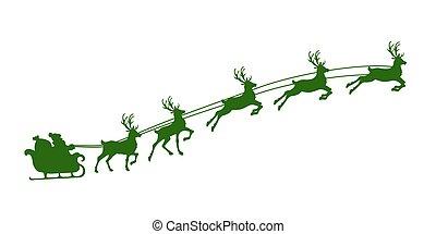 christmas reindeer harness - Silhouette of Christmas ...