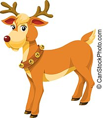 Christmas Reindeer, illustration
