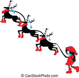 Christmas reindeer & Little santa