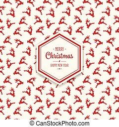 christmas reindeer pattern background