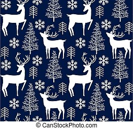 Christmas reindeer seamless pattern background. illustration background. Vector illustration layered for easy manipulation and custom coloring. esp 10