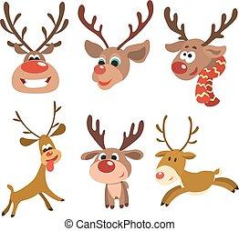 Christmas reindeer set.