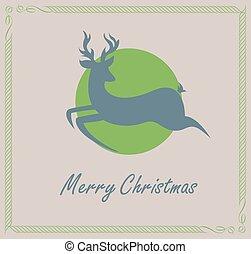 Christmas Reindeer Silhouette