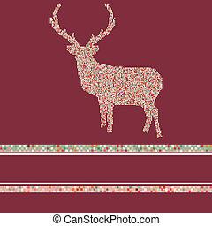 Christmas reindeer silhouette. EPS 8