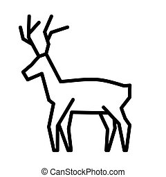 Christmas reindeer simple vector