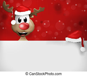 christmas reindeer white board