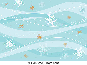 Christmas retro background with snowflakes. Vector...