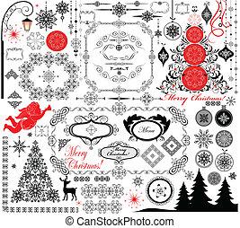 Christmas retro design