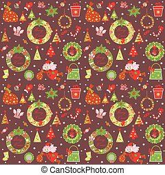 Christmas retro wallpaper