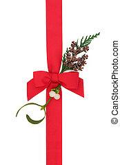 Christmas Ribbon and Flora