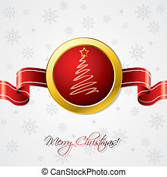 Christmas ribbon card